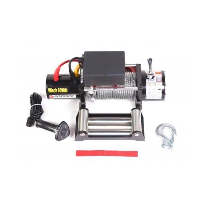 Электролебедка автомобильная Forsage F-TRH98000, 3.6 т, 12В, стальной трос
