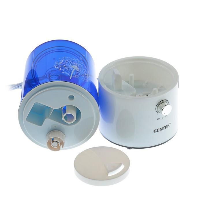 Увлажнитель воздуха Centek СТ-5101, ультразвуковой, 25 Вт, 2.5 л, синий