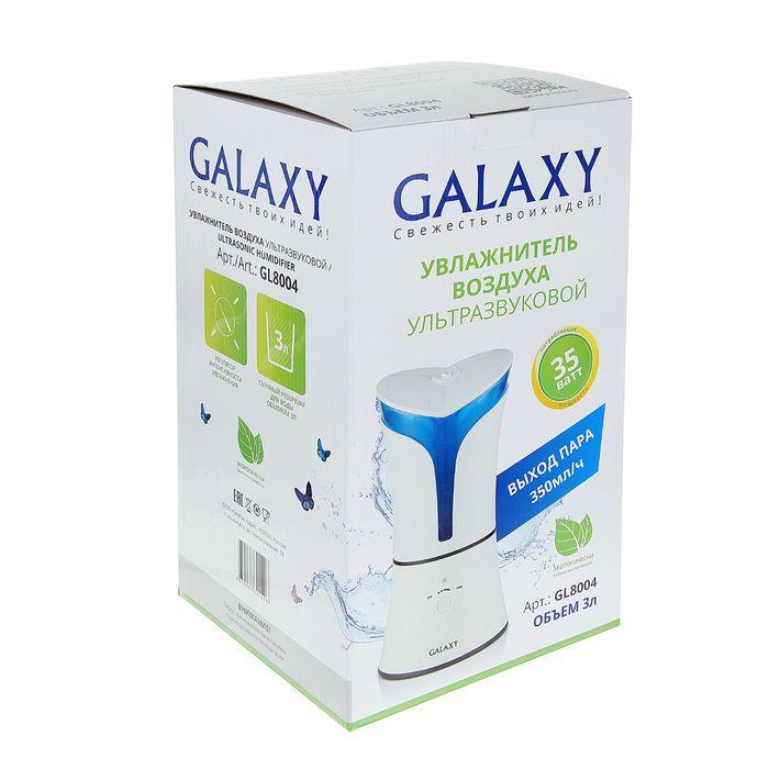 Увлажнитель воздуха Galaxy GL 8004, ультразвуковой, 35 Вт, 3 л, белый