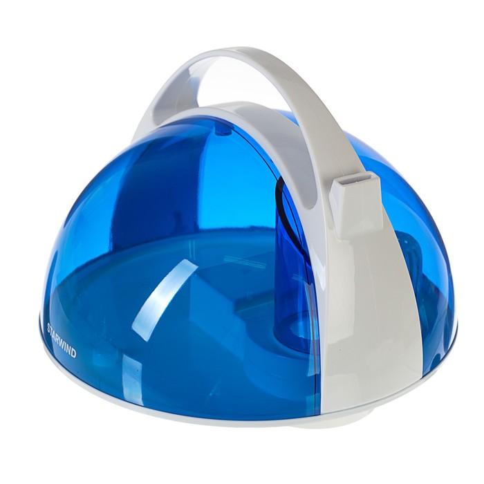 Увлажнитель воздуха Starwind SHC2416, ультразвуковой, 25 Вт, 4 л, арома, бело-синий