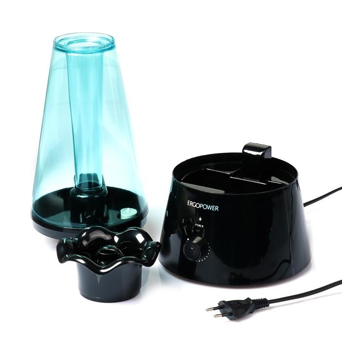 Увлажнитель ErgoPower ER-603, ультразвуковой, 20 Вт, 1.8 л, черный