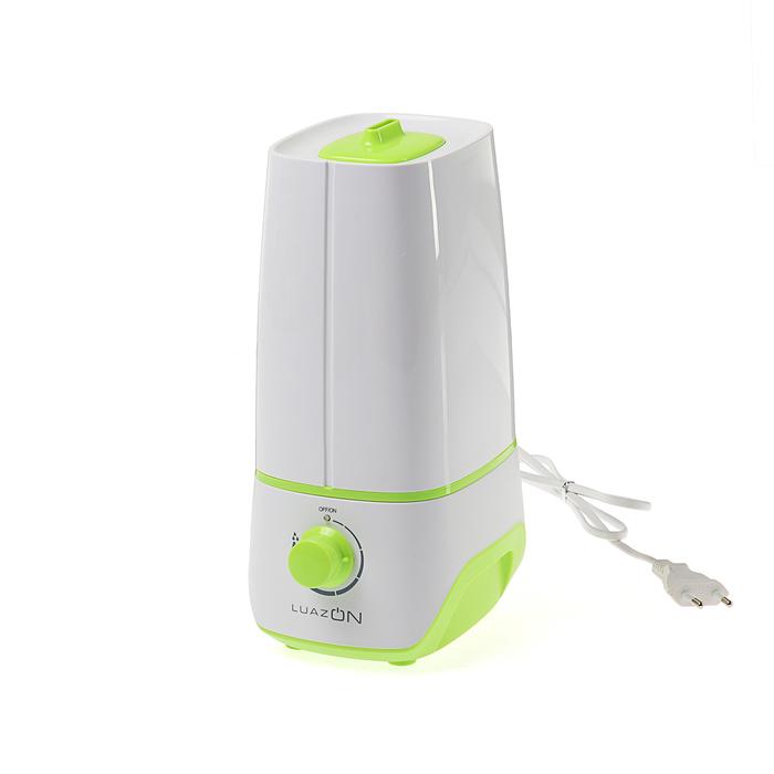 Увлажнитель воздуха LuazON LHU-01, ультразвуковой, 2 л, 18 Вт, бело-зеленый