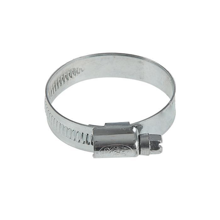 Хомут червячный MGF, диаметр 30-45 мм, ширина ленты 12 мм, оцинкованный