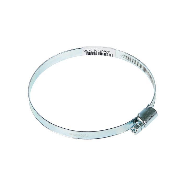 Хомут червячный, диаметр 80-100 мм, ширина ленты 9 мм, оцинкованный
