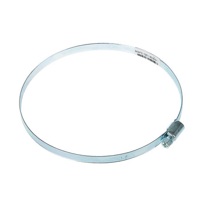 Хомут червячный, диаметр 120-140 мм, ширина ленты 9 мм, оцинкованный