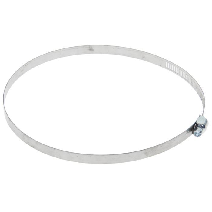 Хомут оцинкованный TUNDRA krep, сквозная просечка, диаметр 118-140 мм, ширина 12.7 мм