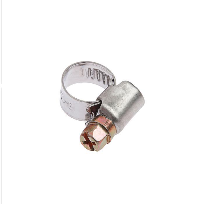 Хомут червячный TUNDRA krep W2, диаметр 8-12 мм, ширина 9 мм, нержавеющая сталь