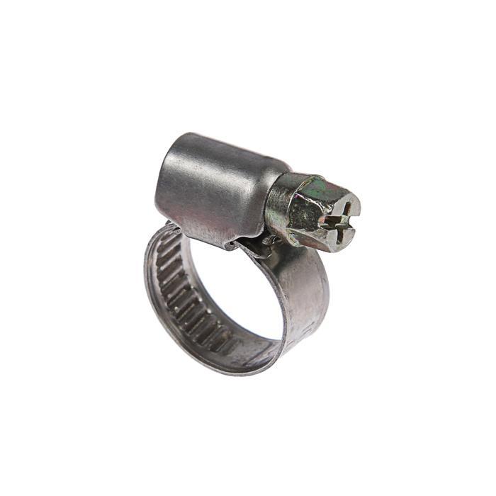 Хомут червячный TUNDRA krep W2, диаметр 10-16 мм, ширина 9 мм, нержавеющая сталь