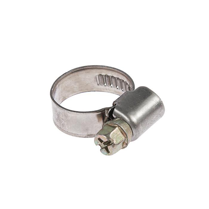 Хомут червячный TUNDRA krep W2, диаметр 12-20 мм, ширина 9 мм, нержавеющая сталь