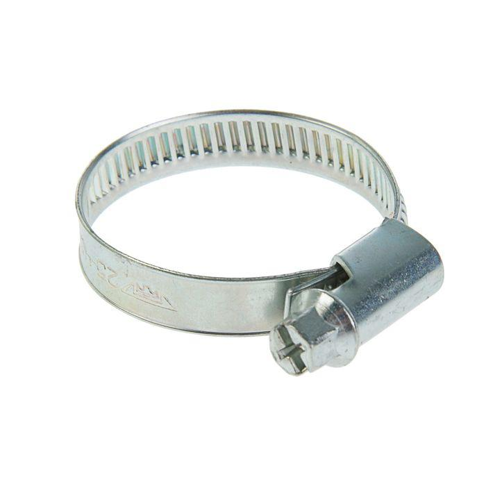 Хомут червячный TUNDRA krep, диаметр 25-40 мм, оцинкованный