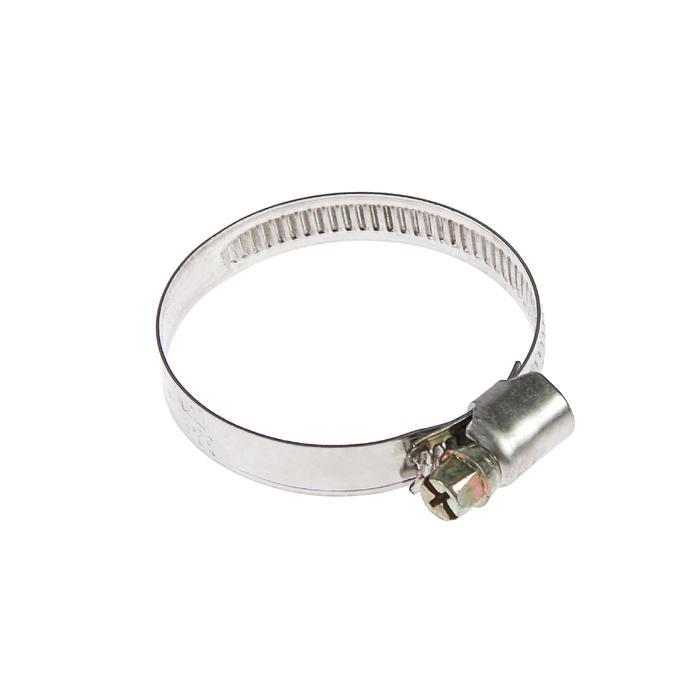 Хомут червячный TUNDRA krep W2, диаметр 32-50 мм, ширина 9 мм, нержавеющая сталь