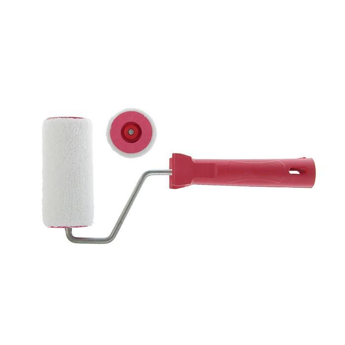 Валик LOM, велюр, 100 мм, ручка d=6 мм, D=40 мм