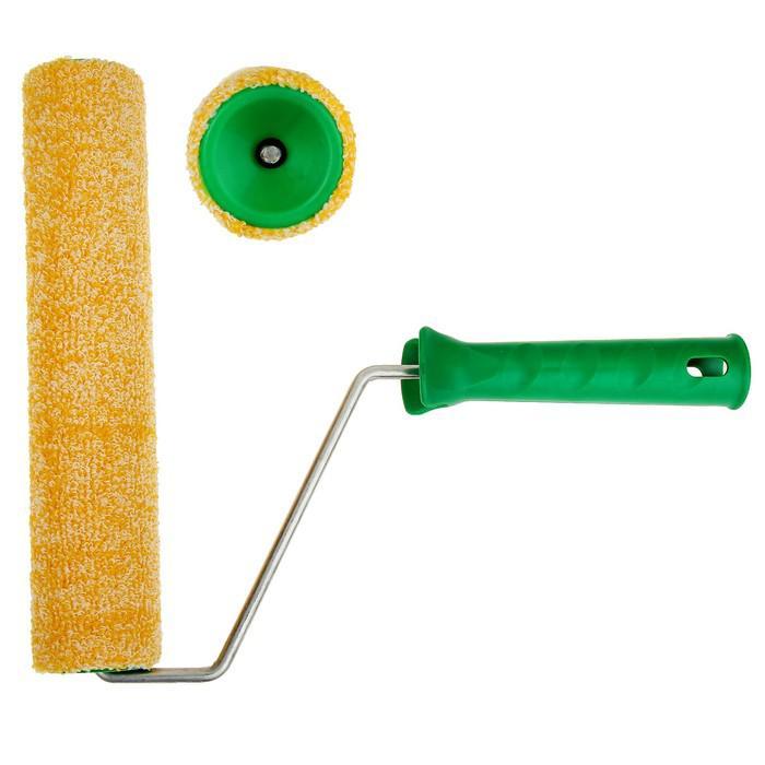 Валик TUNDRA basic, велюр, 240 мм, ручка d=6 мм, D=42 мм, ворс 4 мм