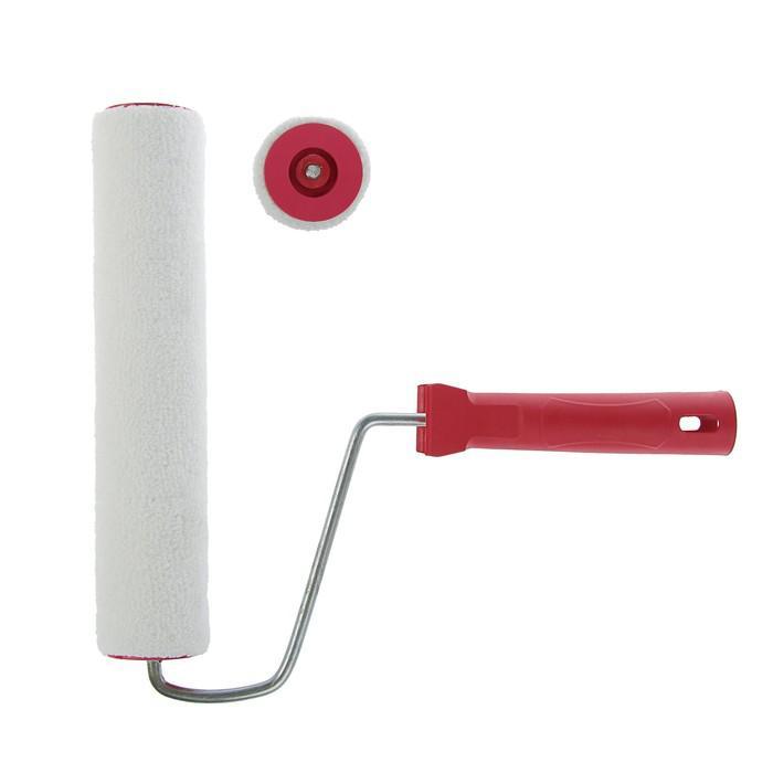 Валик LOM, велюр, 250 мм, ручка d=6 мм, D=40 мм