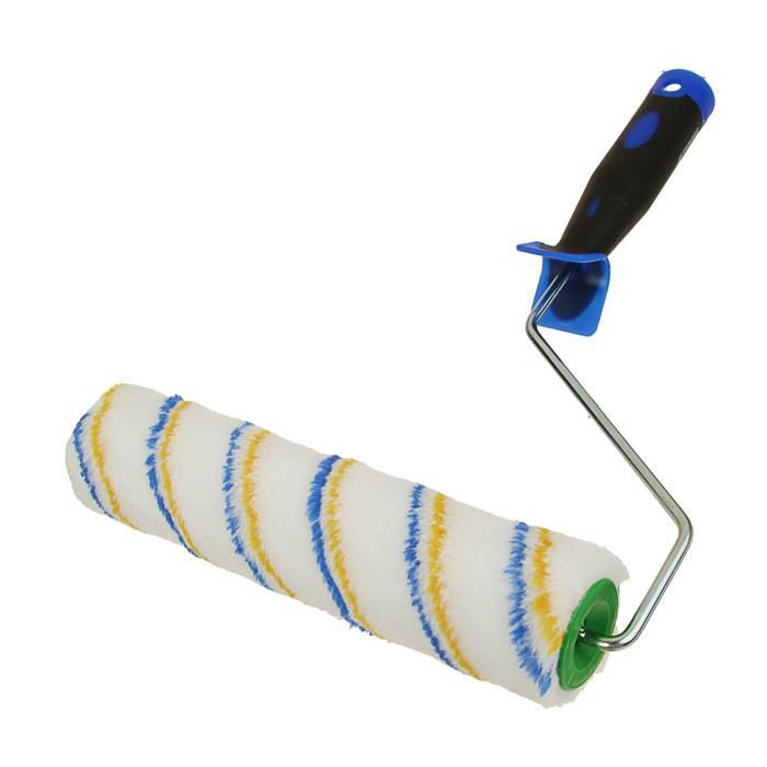Валик TUNDRA comfort, полиамид, 250 мм, ручка d=6 мм, D=42 мм, ворс 12 мм, двухкомп. ручка
