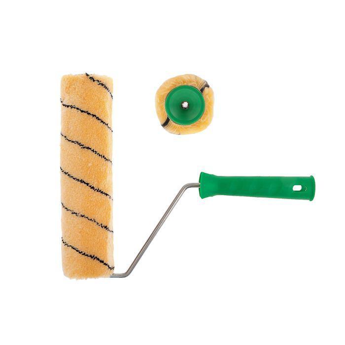 Валик TUNDRA basic, полиакрил, 240 мм, ручка d=6 мм, D=42 мм, ворс 11 мм, синяя нить