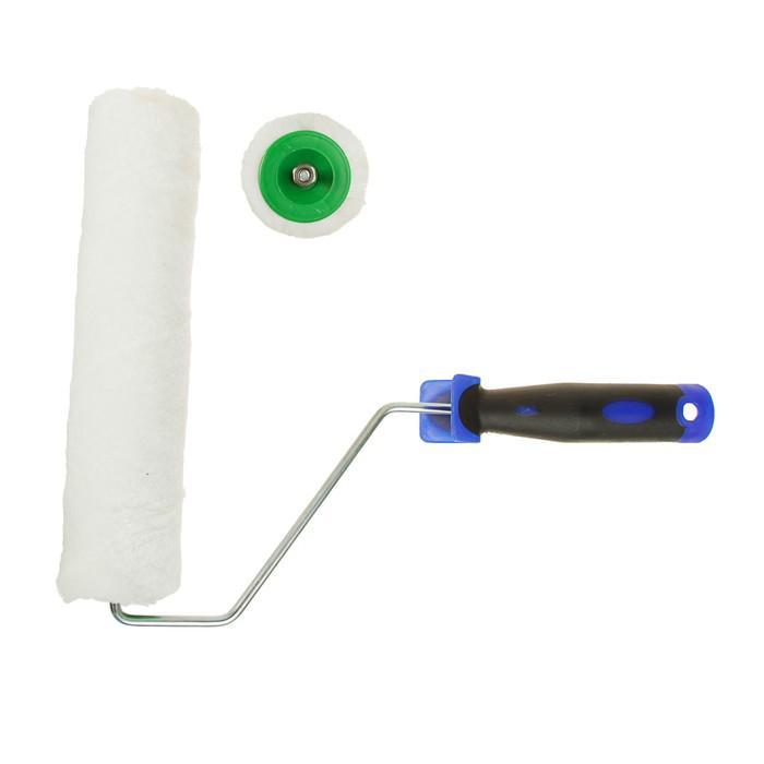 Валик TUNDRA comfort, шерсть, 250 мм, ручка d=6 мм, D=42 мм, ворс 6 мм, двухкомп. ручка
