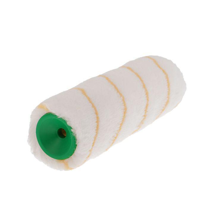 Валик сменный TUNDRA basic, полиамид, 180 мм, ручка d=6 мм, D=42 мм, ворс 12 мм, желтая нить