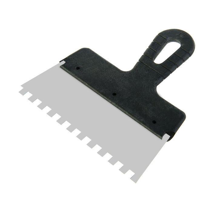 Шпатель зубчатый LOM, 200 мм, зуб 8 мм, нержавеющая сталь, ручка пластик