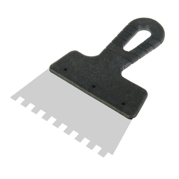 Шпатель зубчатый LOM, 150 мм, зуб 8 мм, нержавеющая сталь, ручка пластик