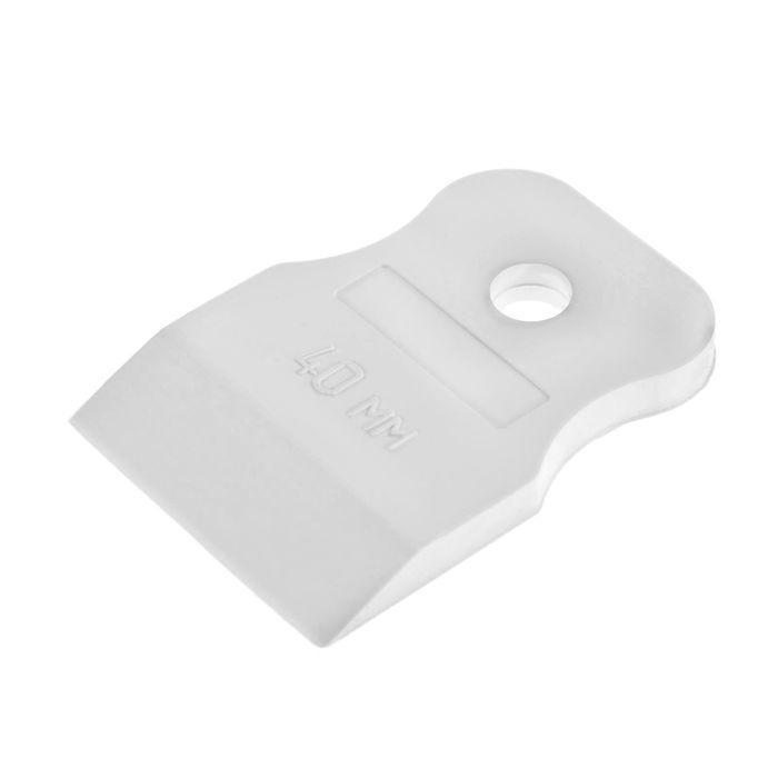 Шпатель резиновый TUNDRA Basic, 40 мм, белый