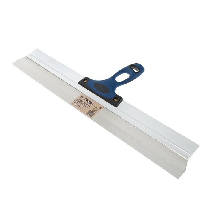 Шпатель фасадный TUNDRA Comfort, 600 мм, нержавеющая сталь, двухкомпонентная ручка