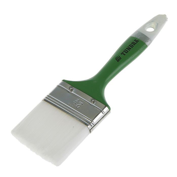 """Кисть плоская TUNDRA basic, искусственная щетина, пластмассовая ручка 2,5"""" (63 мм)"""