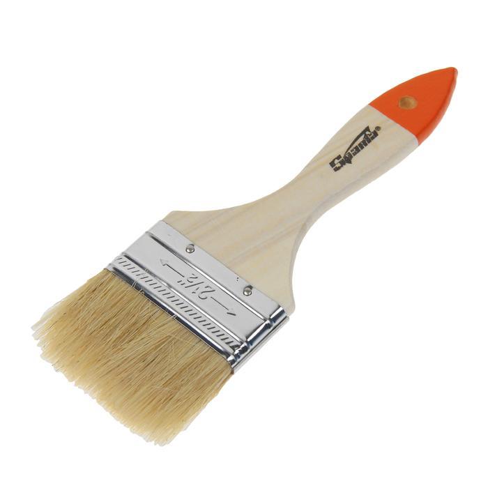 Кисть плоская Sparta Slimline, 63 мм, ручка дерево, натуральная щетина