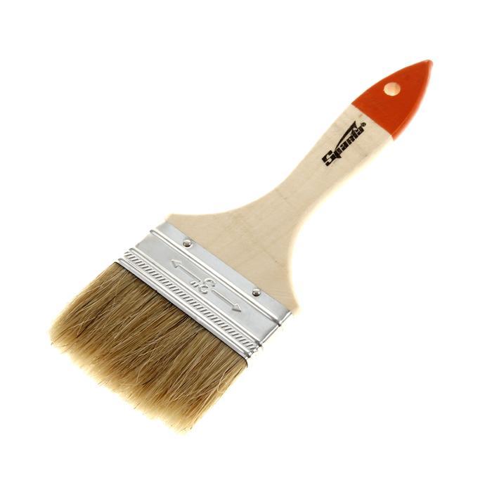 Кисть плоская Sparta Slimline, 75 мм, ручка дерево, натуральная щетина