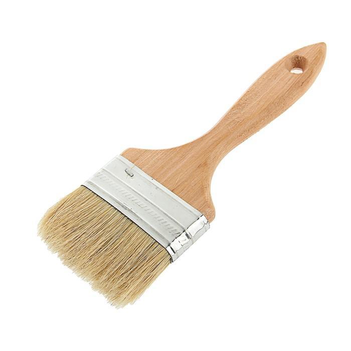Кисть плоская LOM, 75х14 мм, ручка дерево, натуральная щетина