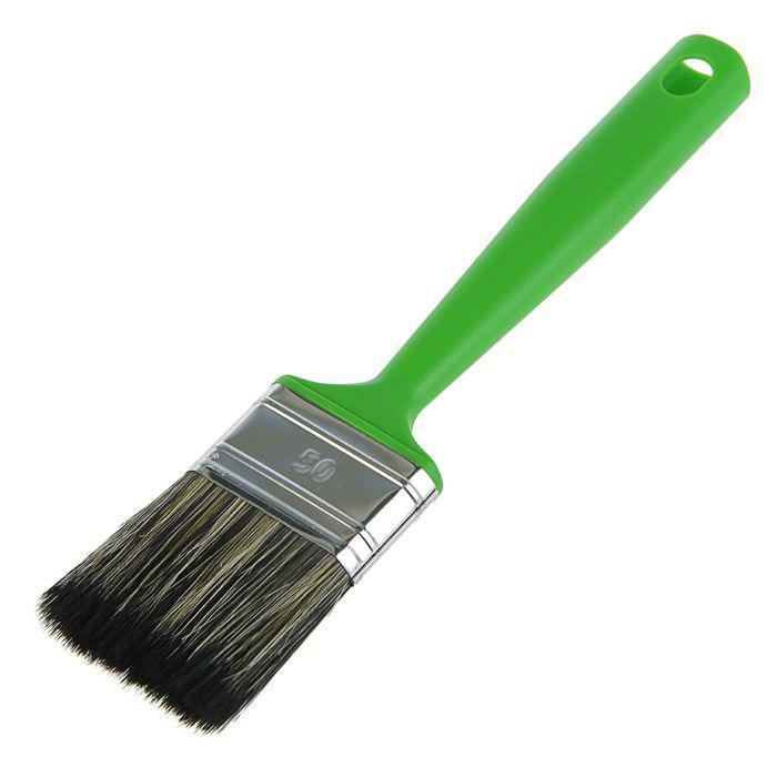 """Кисть плоская """"Мелодия цвета"""", 50х14 мм, ручка пластик, смешанная щетина"""