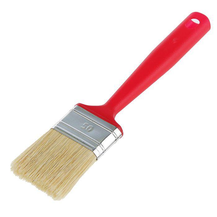 """Кисть плоская """"Мелодия цвета"""", 50х14 мм, ручка пластик, натуральная щетина"""