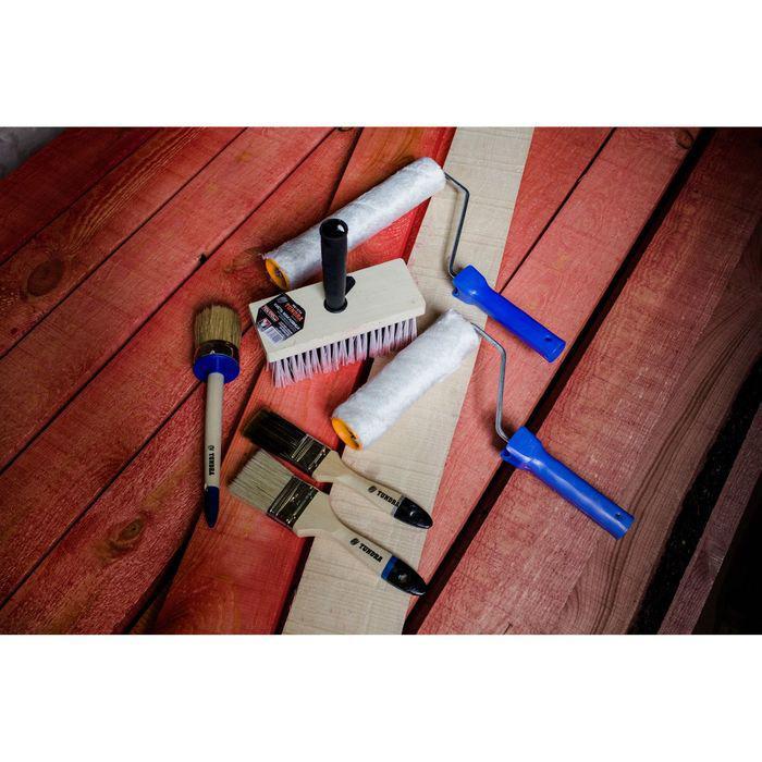 """Кисть плоская TUNDRA comfort, натуральная щетина, 2"""", 50 мм, деревянная ручка"""