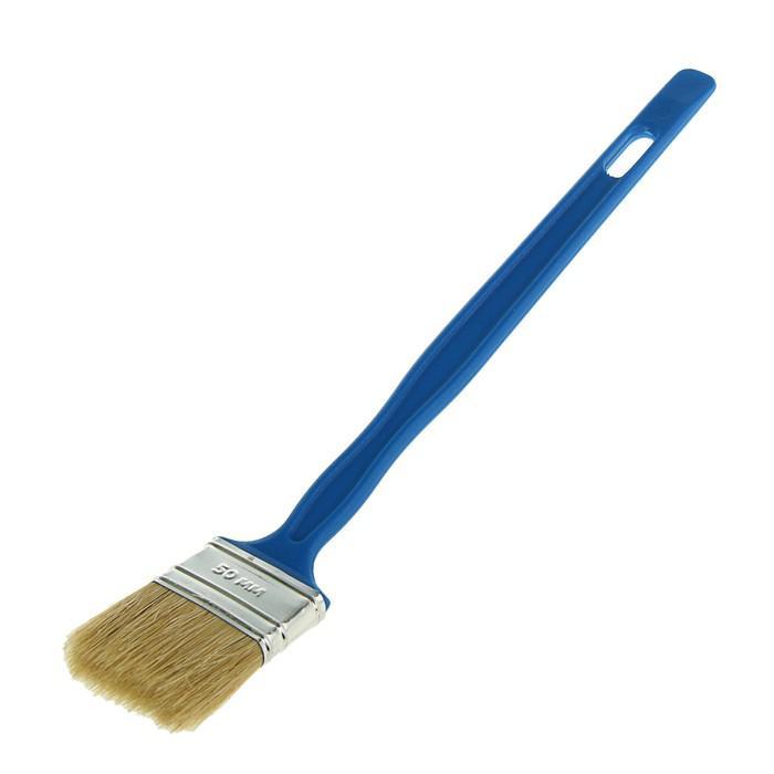 Кисть радиаторная TUNDRA comfort, 50х12 мм, ручка пластик, натуральная щетина