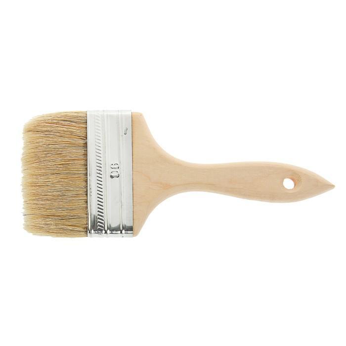Кисть плоская LOM, 90х14 мм, ручка дерево, натуральная щетина