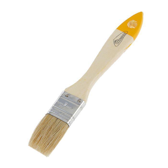 Кисть плоская Hobbi/Remokolor Любитель, 25 мм, ручка дерево, натуральная щетина