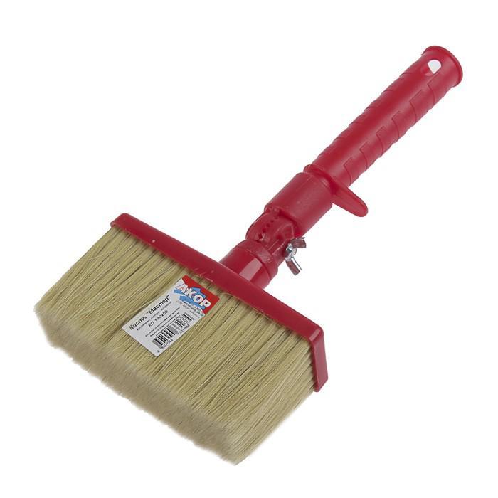 "Кисть-макловица ""АКОР"" Мастер, 50х140 мм, ручка пластик, натуральная щетина, с изгибателем"