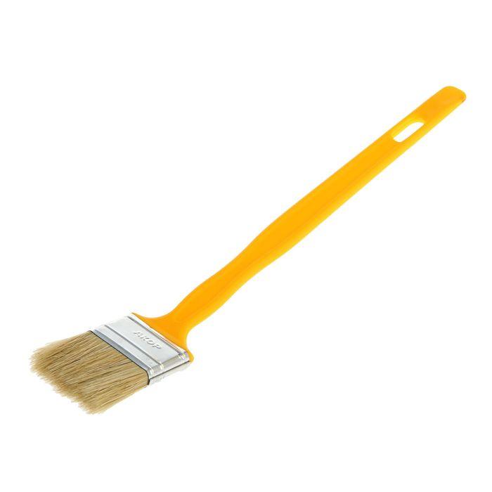 """Кисть радиаторная """"АКОР"""" Эксперт, 50х12 мм, ручка пластик, натуральная щетина"""