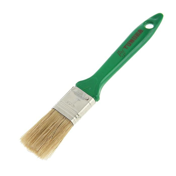 """Кисть плоская TUNDRA basic, смешанная щетина, пластиковая ручка 1"""" (25 мм)"""