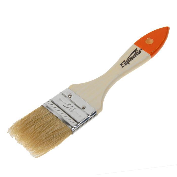 Кисть плоская Sparta Slimline, 38 мм, ручка дерево, натуральная щетина