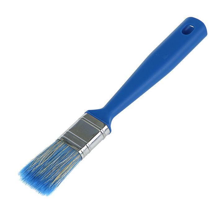 """Кисть плоская """"Мелодия цвета"""", 25х12 мм, ручка пластик, смешанная щетина"""