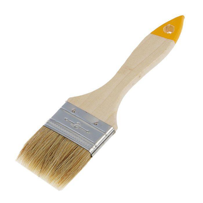 Кисть плоская Hobbi/Remocolor Любитель, 50 мм, ручка дерево, натуральная щетина