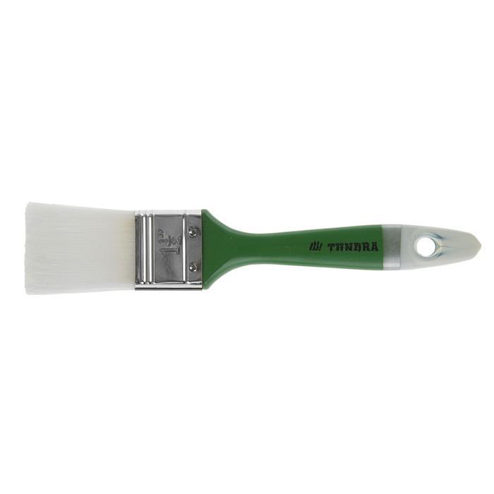 """Кисть плоская TUNDRA basic, искусственная щетина, пластмассовая ручка 1,5"""" (38 мм)"""