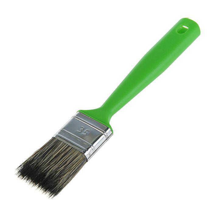 """Кисть плоская """"Мелодия цвета"""", 35х12 мм, ручка пластик, смешанная щетина"""