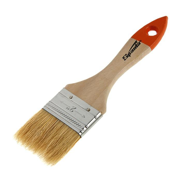 Кисть плоская Sparta Slimline, 50 мм, ручка дерево, натуральная щетина