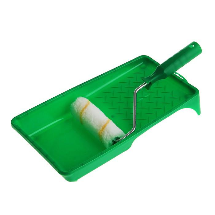 Набор TUNDRA basic, для акриловых красок, валик полиамид 110 мм, ванночка 150х290 мм