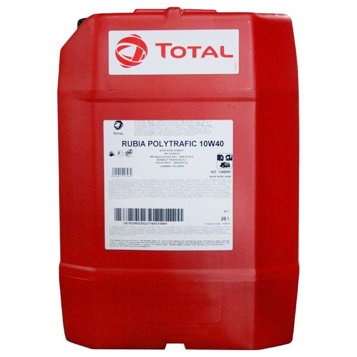 Масло моторное Total RUBIA POLYTRAFIC 10W-40, 20 л