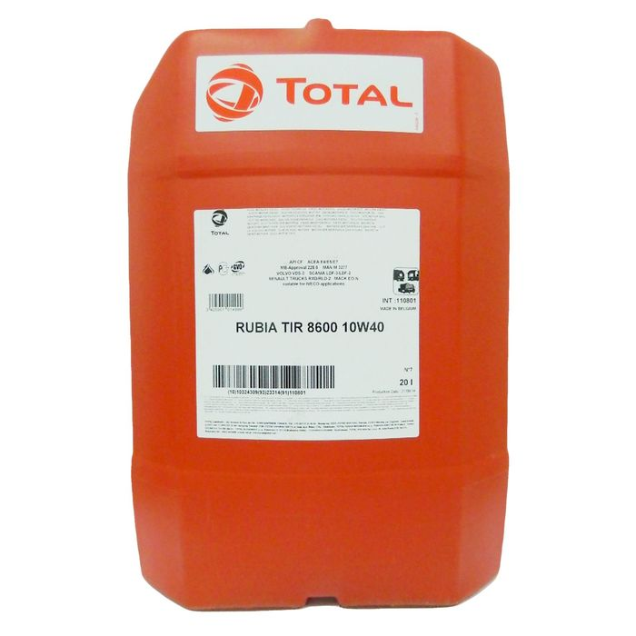 Масло моторное Total RUBIA TIR 8600 10W-40, 20 л