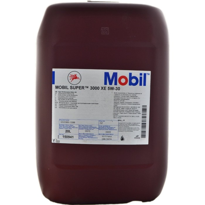 Моторное масло Mobil SUPER 3000 XE 5w-30, 20 л