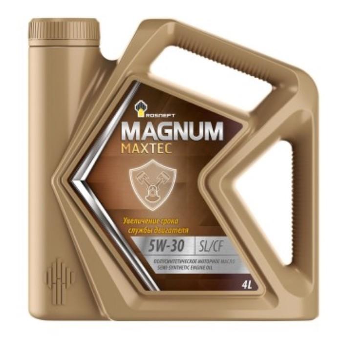 Масло моторное Rosneft Magnum Maxtec 5W-30, 4 л п/синт